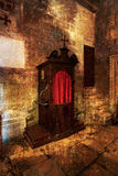 Old wooden confessional. Royalty Free Stock Photography