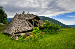 Old wooden cottage Royalty Free Stock Photos