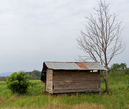 Old wooden cottage Royalty Free Stock Images