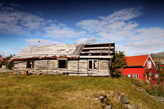 Old wooden cottage, Lofoten island Stock Photography