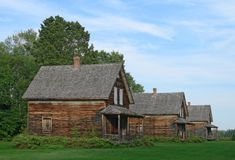 Old wooden country houses Stock Photo