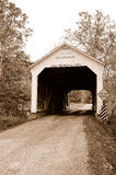 Old wooden covered bridge Stock Photography