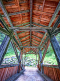 Old wooden covered bridge Royalty Free Stock Photography