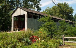 Old Wooden Covered Bridge Stock Images
