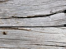 Old wooden crack,Grey color in horizontal line for background. royalty free stock image