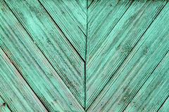 Old wooden with cracked blue color stock images