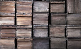 Old wooden crates texture Royalty Free Stock Photos