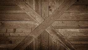 Old wooden cross board wall as background Stock Photos