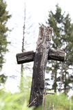 Old wooden cross Stock Photography