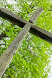 Old wooden cross Royalty Free Stock Images