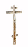 Old wooden cross isolated Stock Photography