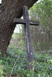 Old wooden cross Stock Images