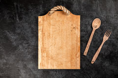 Old wooden cutting board Royalty Free Stock Photo