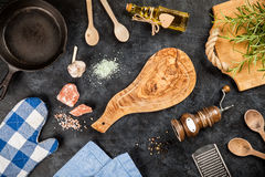 Old wooden cutting board Royalty Free Stock Photography