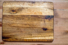 Old wooden cutting board Stock Photography