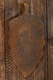 Old wooden cutting board Stock Images
