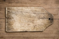 Old wooden cutting table. Royalty Free Stock Photo