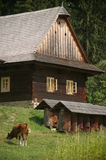 Old wooden czech house Stock Photography