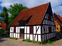 Old wooden danish house. In a park Royalty Free Stock Photo