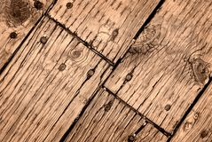 Old Wooden Deck Royalty Free Stock Photos