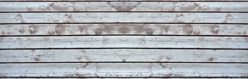 Old wooden deck elongated Royalty Free Stock Photos