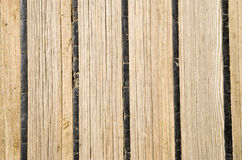 Old wooden deck of a sailing ship Royalty Free Stock Photos