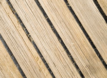 Old wooden deck of a sailing ship Stock Photography