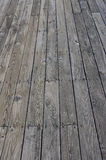 Old wooden deck texture. Weathered old pine board deck background royalty free stock photography