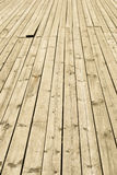 Old wooden decking Stock Image