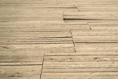 Old wooden decking Royalty Free Stock Photo