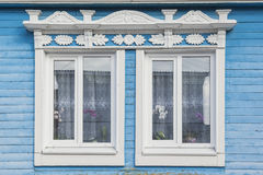 Old wooden decorated window Stock Photography