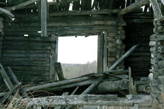 Old Wooden Destroyed House Stock Images