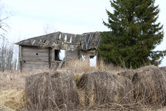 Old wooden destroyed house Royalty Free Stock Photo