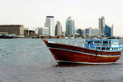 Old wooden dhow boat Royalty Free Stock Photography