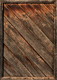 Old wooden diagonal laths in framework Stock Images
