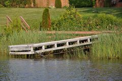 Old wooden dock Stock Photo