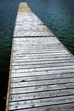 Old Wooden Dock by Water Stock Photo