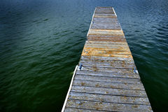 Old Wooden Dock by Water Stock Photography