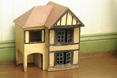 An old wooden doll house Royalty Free Stock Images