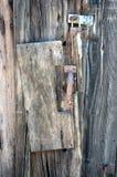 Old wooden door. Locked wooden door stock photography