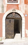 Old wooden door. With pattern Royalty Free Stock Photography