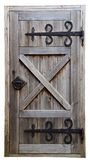 Old wooden door. Isolated on white background Royalty Free Stock Photos