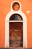 Old wooden door. (photo taken in Rome, Italy Stock Photography