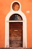 Old wooden door. (photo taken in Rome, Italy stock photography