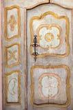 Old wooden door. Old wooden church door mediterranean traditional style Stock Images