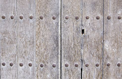 Old wooden door abandoned Stock Photos