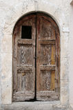 Old Wooden Door in Abruzzo Region, Italy Stock Photo