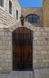 Old wooden door, Safed, Israel Royalty Free Stock Images