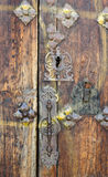 Old Wooden Door. Ancient wooden door in a spanish village Stock Photos