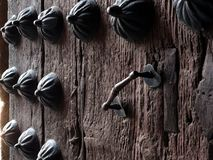 Studs and iron handle royalty free stock images